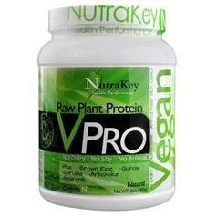 NutraKey牌VPRO 系列有机植物蛋白粉奶昔 原味 383克 18天用量图片