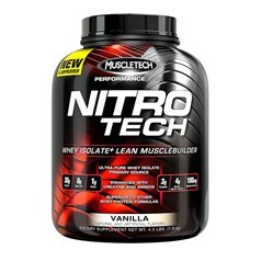 Muscletech牌Performance优品系列高性能正氮增肌分离蛋白粉 香草味 1800克 41次用量图片